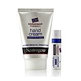 露得清 (Neutrogena)两件套(深层滋润护手霜(无香)56g+护肤润唇膏 SPF15 4g)