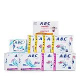 ABC纤薄全棉清洁护理卫生巾组合套装(10件/套)