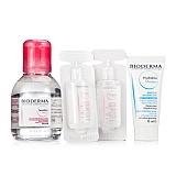 贝德玛 (Bioderma)舒妍洁肤液套装(舒妍洁肤液100ml+面膜15ml+舒妍洁肤液10mlx2)