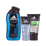阿迪达斯(Adidas)活力护肤三件套(深层倍润日霜50g+碳爽洁面50g+纵情沐浴露250ml)