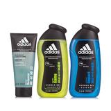 阿迪达斯 (Adidas)男士沐浴洁面套装(荣耀沐浴露250ml+纵情沐浴露250ml+控油洁面啫哩100ml)