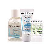 贝德玛(bioderma)假日套装(水润保湿洁肤水20ml+水润保湿面膜15ml+净妍毛孔修护乳2mL*2)