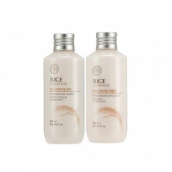 韩国•菲诗小铺 (The Face Shop)大米调理水乳两件套(保湿柔肤水150ml+保湿柔肤乳150ml)