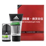 阿迪达斯 (Adidas)男士净爽保湿露50g+阿迪达斯深层洁面膏100g(新老包装随机发送)