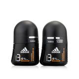 阿迪达斯 (Adidas)男士走珠香体液-畅爽50mlx2  双支装