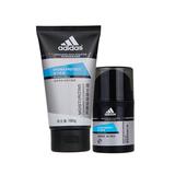阿迪达斯 (Adidas)男士活力保湿深层滋润霜套装 50g+100g