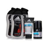 阿迪达斯 (Adidas)男士活力保湿沐浴套装