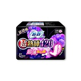 苏菲SOFY卫生巾超熟睡超薄随心翻棉柔夜用4片420mm(与410mm更替发货中)