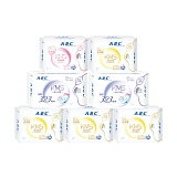ABC轻透薄棉柔透气甜睡夜用卫生巾组合7包(日32片+夜8片+加长夜用6片)