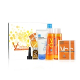 美丽加芬(beauty plus)VC清盈美白礼盒(VC水200ml+VC乳200ml+VC原液7ml+氨洁60g+VC面膜26g*2)