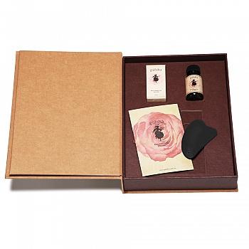 古尔莎(Gulsha)玫瑰甄选礼盒(玫瑰精华油30ml+玫瑰水30ml+精油按摩板+产品手册)