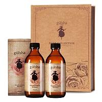 古尔莎(Gulsha)晨露玫瑰水+玫瑰精华油豪华礼盒