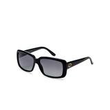 长方形醋酸纤维眼镜架(黑)