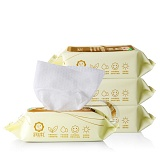 润本Runben 婴儿手口湿巾25片*4包