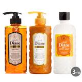 Moist Diane滋润亮泽精油洗发水500ml+护发素500ml+身体乳250ml三件套