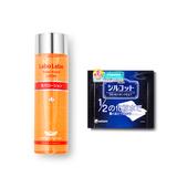 日本•城野医生(Dr.Ci:Labo)毛孔对策收敛水100ml+尤妮佳Unicharm 1/2省水化妆卸妆棉一盒 套组