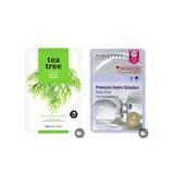 韩国•BOTANIC FARM 自然能量面膜贴-茶树 *10+NINETREE 胶原蛋白弹力面膜贴*10