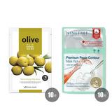 韩国•BOTANIC FARM 自然能量面膜贴*10-橄榄+NINETREE 营养护理面膜贴*10