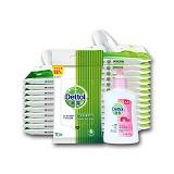 中国•Dettol 滴露 手部清洁套装 卫生湿巾10片*8包*3套+洗手液滋润倍护125g